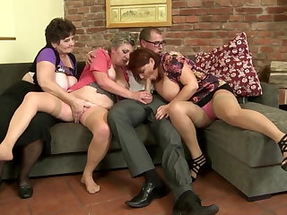 Granny, Group, Mature, Milf, Mother, Old, Slut, Son, Young,