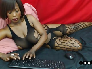 Black, Ebony, Solo, Webcam, Whore,