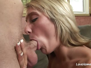 Hot blonde is acquiring rammed and sucking cock
