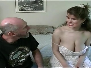 Tessa with respect to a old fart - chubby mammaries