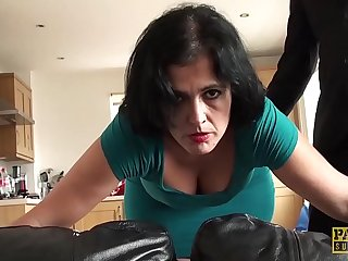 Guestimated throat with the addition of pussy fuck for an amateur brunette slick operator