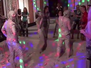 Kinky Nance Paint Wrestling Fun