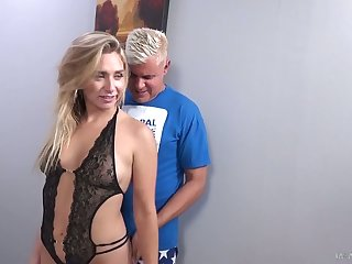 Glamorous blonde Mickey Tyler is toying her clit while dude fucks wet discontinuation