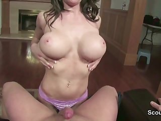Step-Mom Caught German Step-Son and helps with Knob Unclean