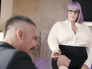 Tasteless BBW essayist seduces and fucks their way handsome boss Charles Dera