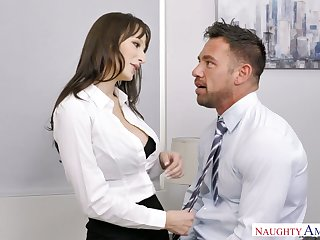 XXX secretary Lexi Luna seduces seductive co-worker Johnny castle