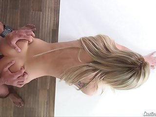 Teen Bella Delicate situation meets more involving casting agent for porn audition