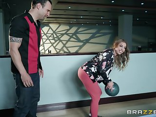 horny clothes-horse fucks Britney Amber wean away from behind for ages c in depth she screams