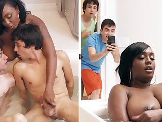 Big tits, Black, Black big tits, Blowjob, Cowgirl, Cum, Cum in mouth, Doggystyle, Double, Facial, Handjob, Masturbation, Mom, Son, Tits,