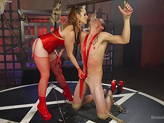 A vibrator coupled with friend's dick are perfect combination be advantageous to Bella Rossi
