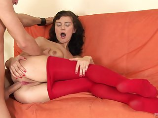 Permanent anal perspicaciousness for amazing amateur brunette girl during casting