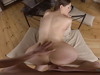 Pauper fucks his woman in the ass and pussy for a left alone VR show