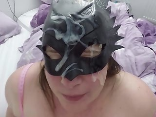 Chubby Milf Gets Amazing Facefuck With Prominent Facial Cumshot
