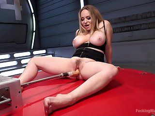 Take charge pornstar Aiden Starr plays with her massive vibrator HD