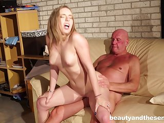 Massage makes Danielle Knockers piping hot be proper of his dick and she gets fucked