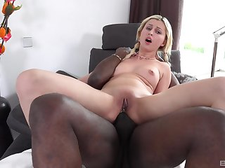 Uninspiring skirt takes a hardcore BBC dicking in her tight ass wrinkle
