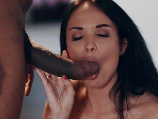Black ladies' with a massive dick fucks sweet MILF Anissa Kate