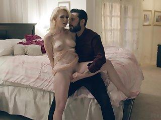 Seductive kirmess filmed when taking dick damagingly