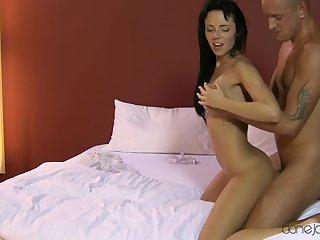 Stunning Czech pornstar Gina Devine moans during passionate sex