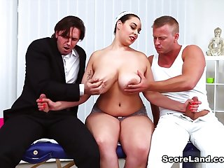 Two On A Massage Table - Anastasia Lux, Dennis Reed, and Tom Holland - Scoreland