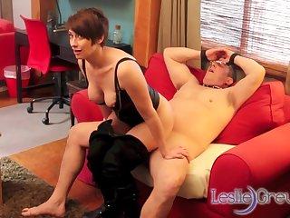 Leslie Grey - Cuffed Cock