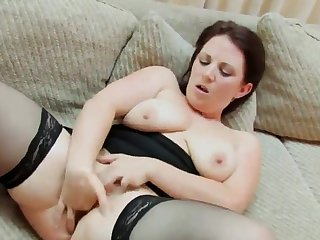 homemade, big chick fingers her pussy