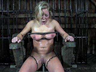 Dia Zerva gets used and punished by her master and that bitch is as a result blue