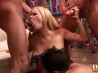 Hardcore gangbang with anal tender blonde slut Alicia Rhodes