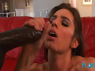 Naomi Russell interracial anal with perfect facial attaining