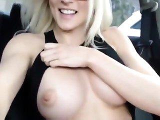 MILF Orgasm In The brush Car