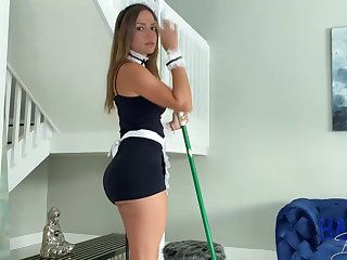 Mexican maid, Havana Bleu is regularly having fuck-a-thon with her employer, for the sake of he always makes her jizz