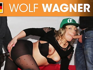 Eva Adams undeveloped banged in a mansion's garden! Wolfwagner.com