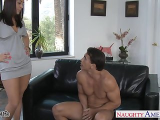 Emotional low-spirited babe Gracie Gla is whore wife who cannot stop riding cock