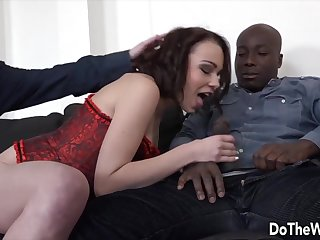 Achieve The Wife - Worshipping a BBC While Her Cuckold Looks On Compilation