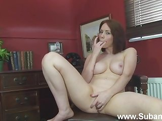 Amateur girl Ellie Delicate situation plays with her nice chest with an increment of wet pussy