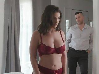 Brave housewife in cherry underwear decided prevalent receive thrills